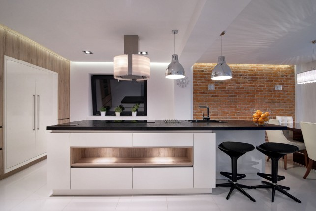 An image of a modern kitchen extension.
